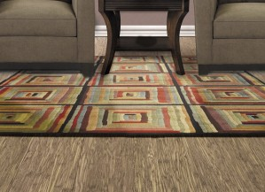 ECO Fusion Strandwoven engineered bamboo Sandstorm. Plant in fused dyes. All ECOfusion Flooring products exceed indoor air quality standards as tested to CARB2012 and EO thresholds.