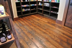 Reclaimed Heart Pine with history and character